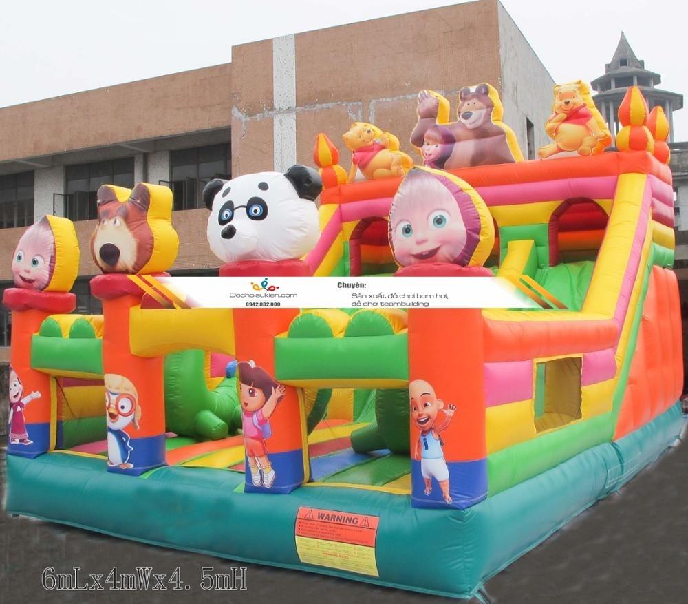 nhà hơi lâu đài cho trẻ em